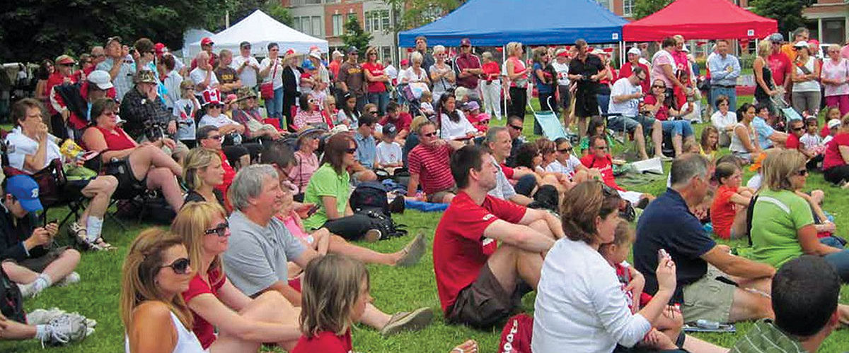 Visitors enjoying Canada Day celebrations at Joseph Brant Museum