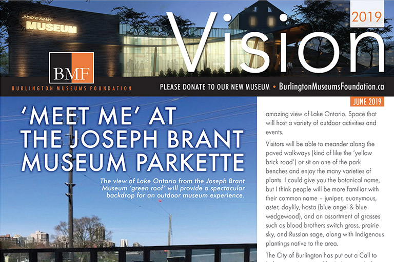 Burlington Museums Foundation Vision Newsletter June 2019