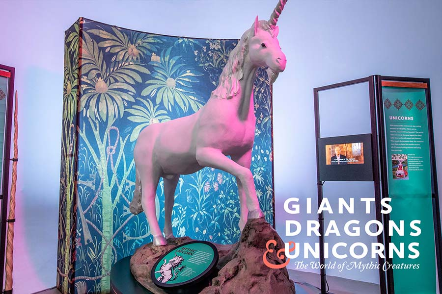 Joseph Brant Museum Giants Dragons Unicorns exhibit